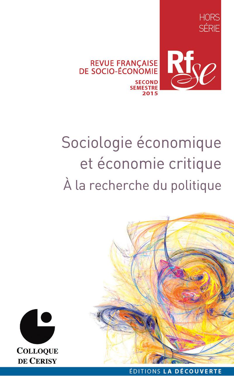 Sociologie économique et économie critique