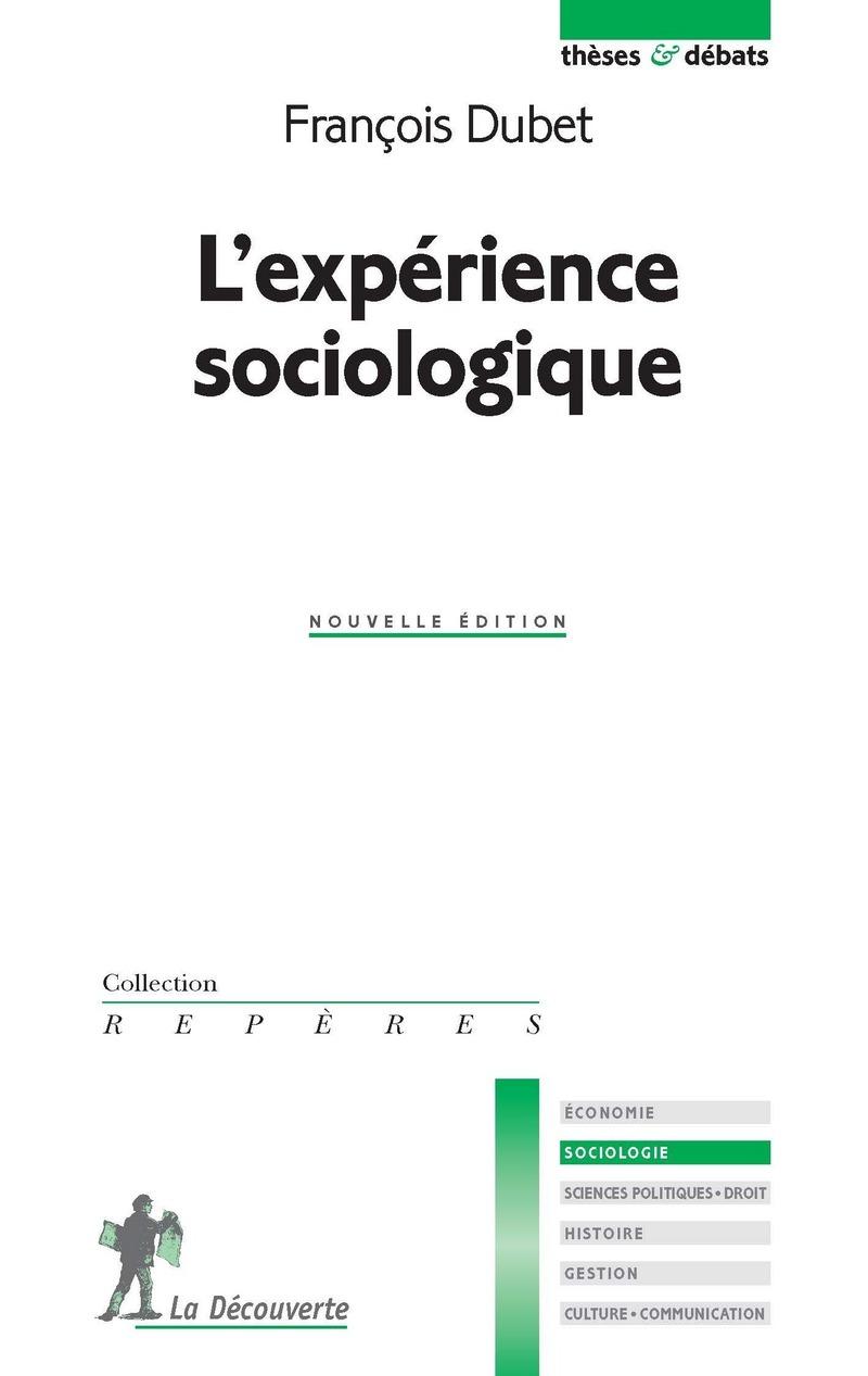 L'expérience sociologique - François DUBET