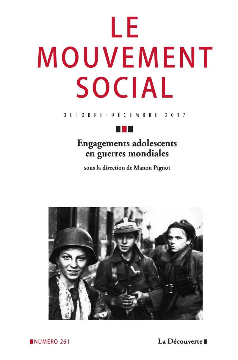 Engagements adolescents en guerres mondiales -  REVUE LE MOUVEMENT SOCIAL