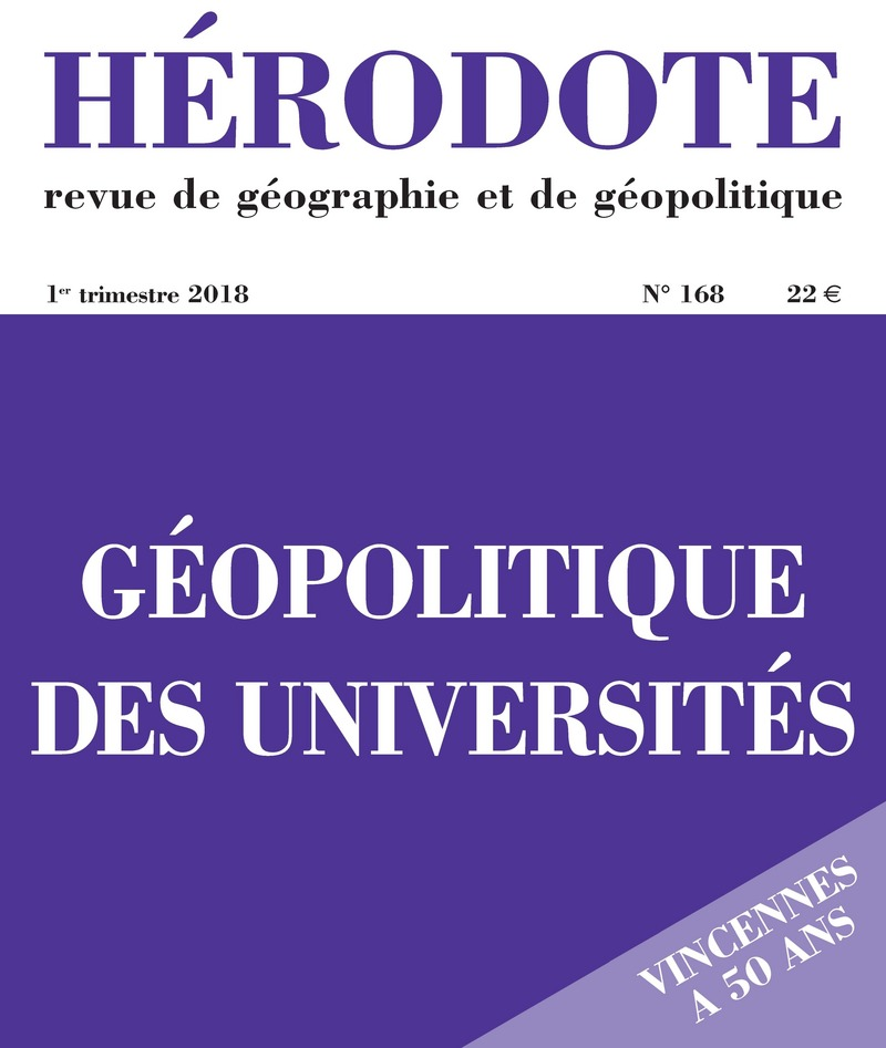 Géopolitique des universités -  REVUE HÉRODOTE