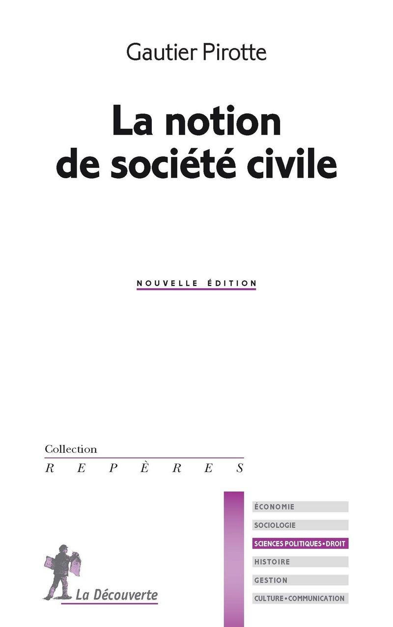 La notion de société civile - Gautier PIROTTE