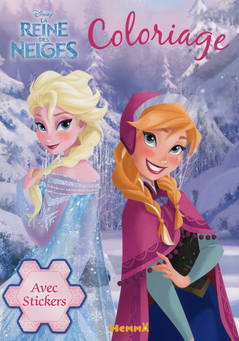 Disney La Reine des Neiges - Coloriage avec stickers