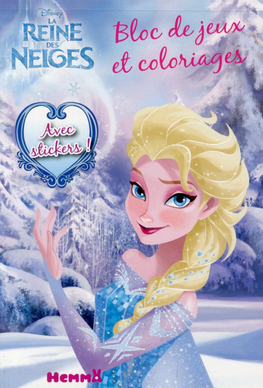 Disney la reine des neiges bloc de jeux et coloriages avec stickers disney - Jeux reine des neige en ligne ...