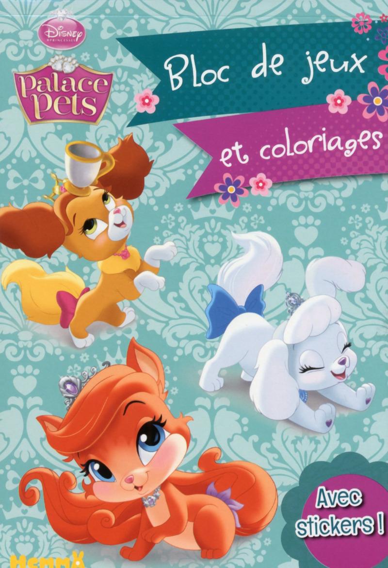 disney princesses palace pets bloc de jeux et coloriages