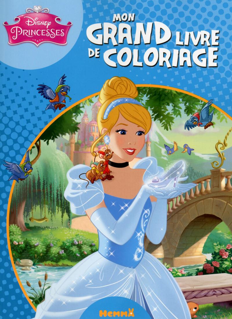 Disney princesses mon grand livre de coloriage disney - Dessin disney princesse ...