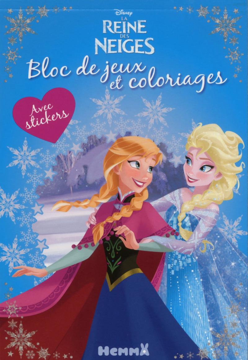 Disney la reine des neiges bloc de jeux et coloriages - Disney reine des neige ...