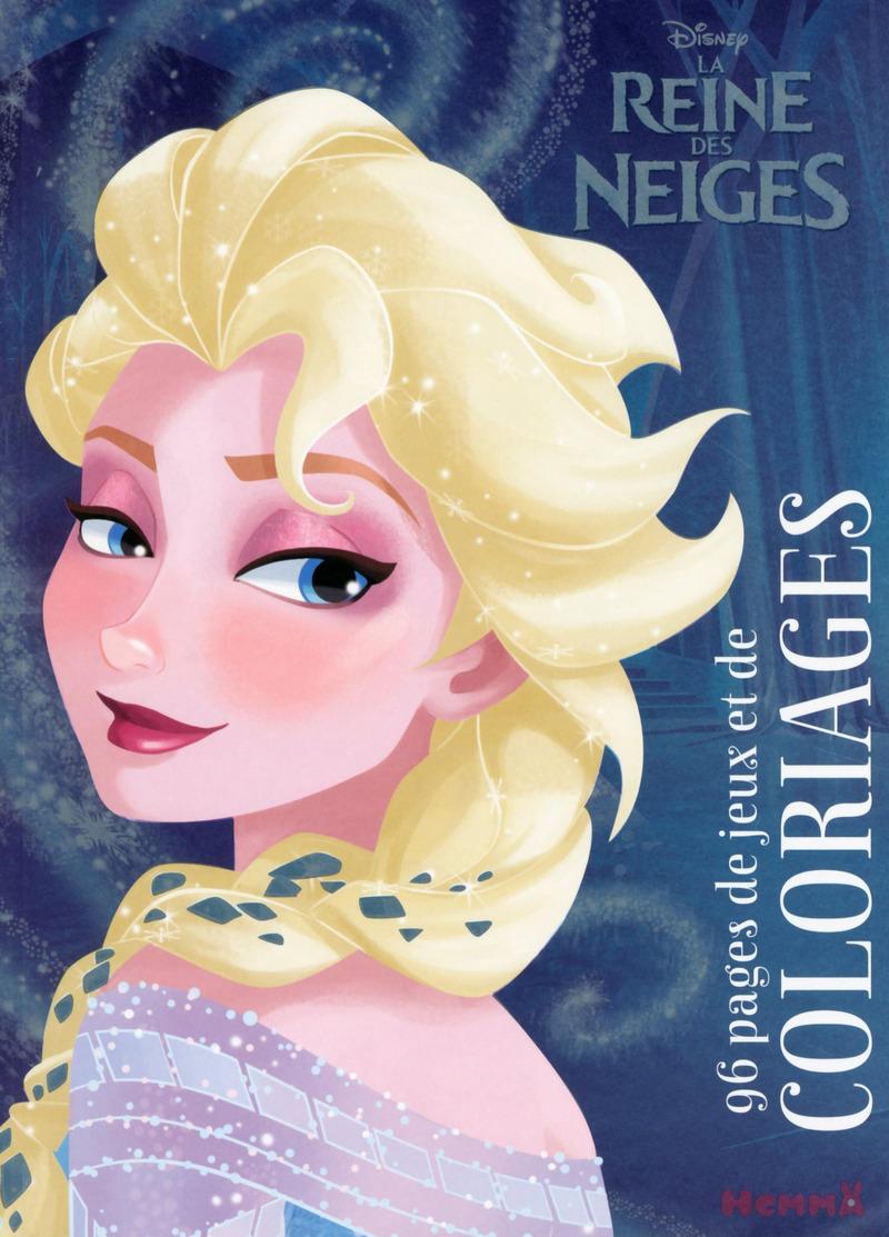 Disney la reine des neiges 96 pages de jeux et de coloriages elsa disney - Jeux princesse des neiges ...