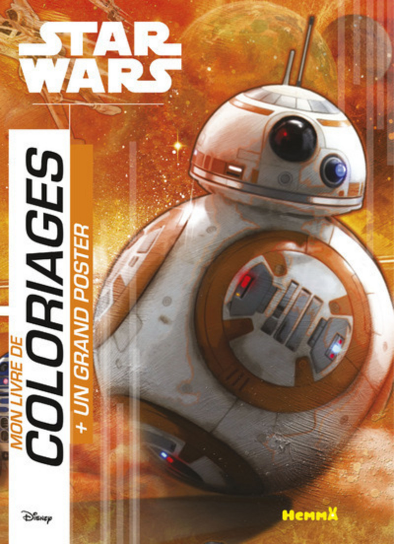 Disney Star Wars Le Réveil de la Force - Mon livre de coloriages avec grand poster (BB-8)