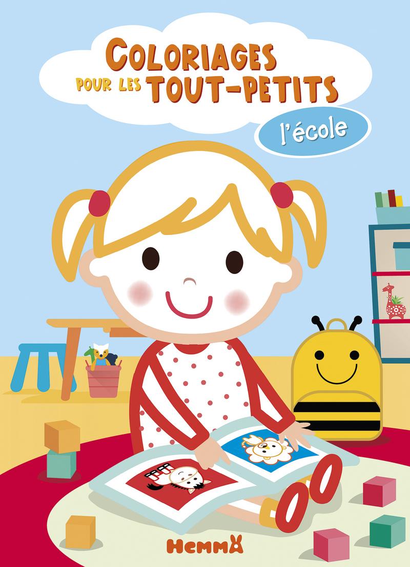 Coloriages pour les tout-petits - L'école