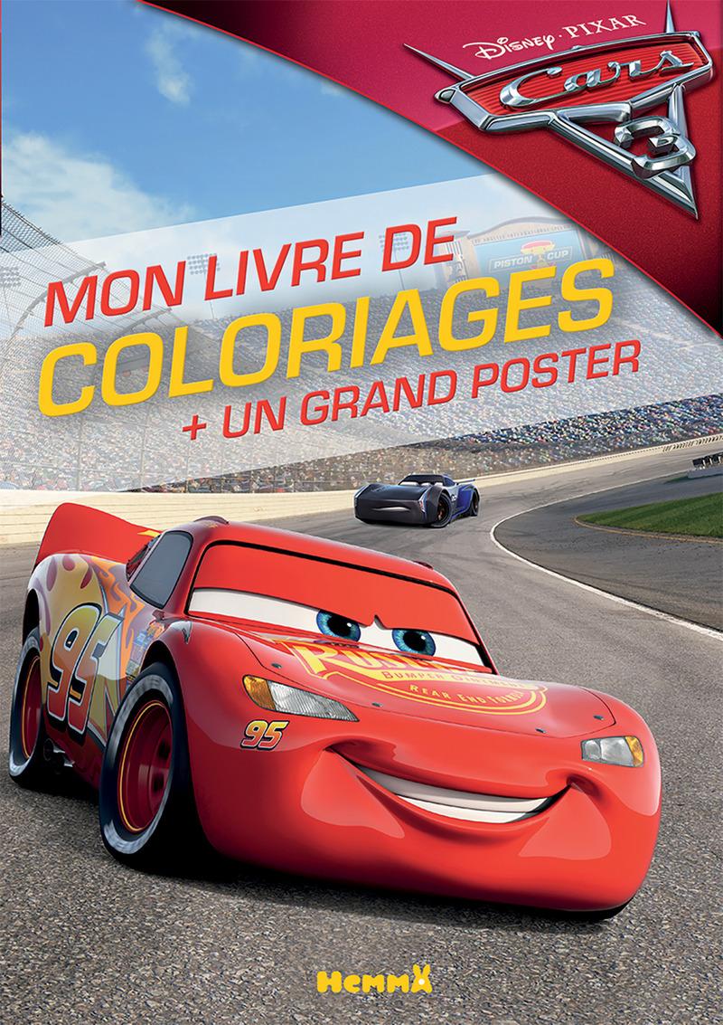 Cars 3 - Mon livre de coloriages + un grand poster