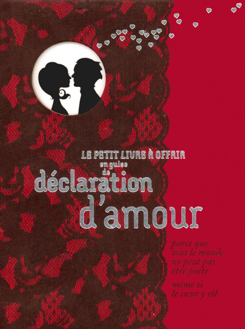 EN GUISE DE DECLARATION D'AMOUR