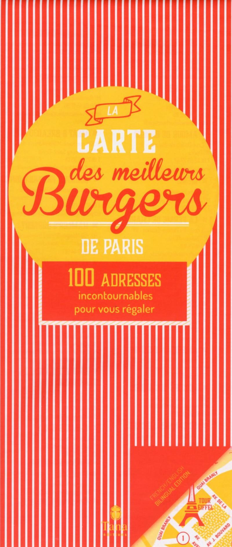 La carte des meilleurs burgers de Paris