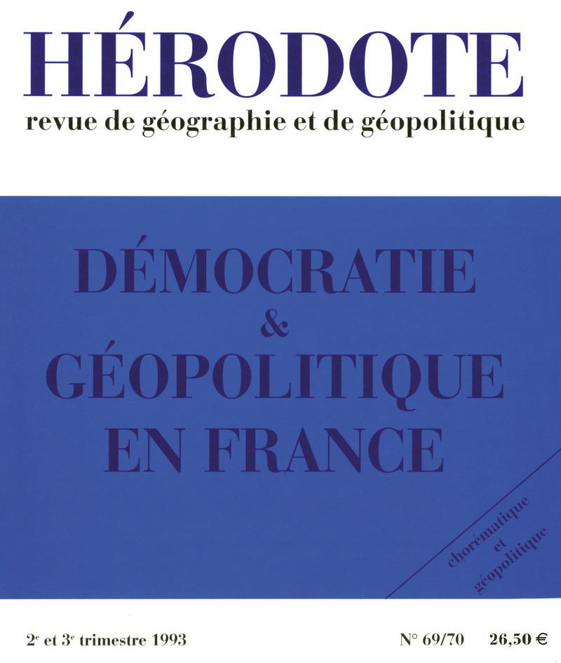 Démocratie et géopolitique en  France