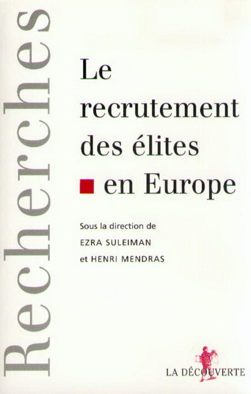 Le recrutement des élites en Europe