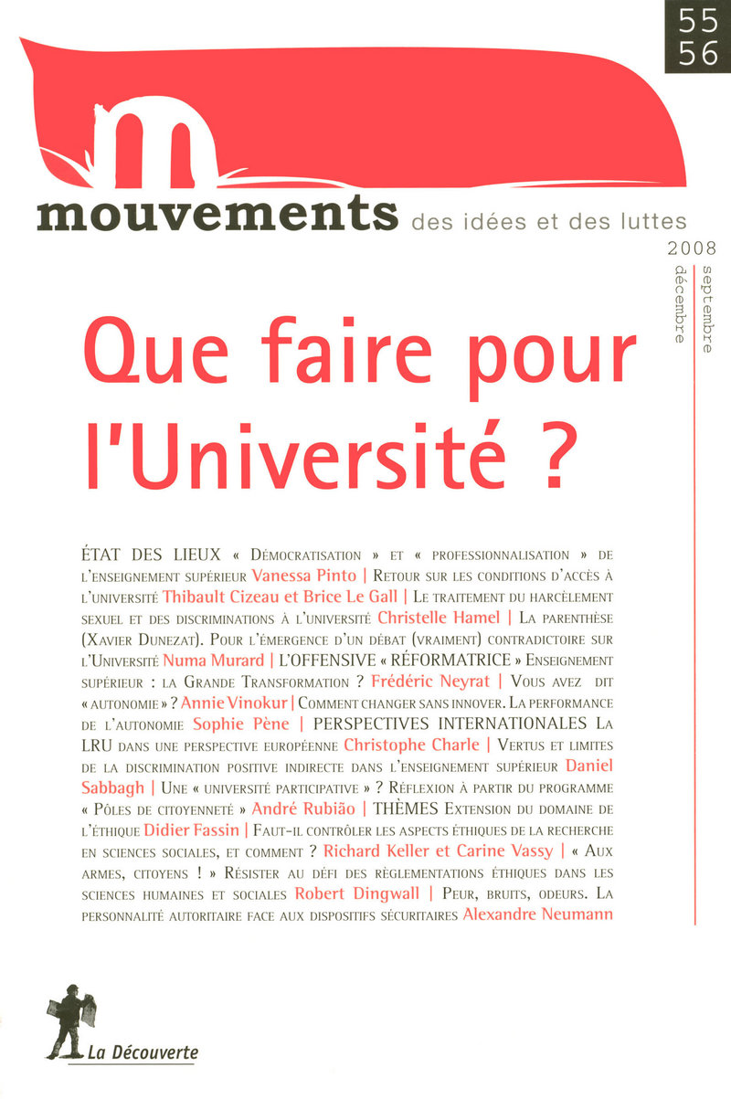 Que faire pour l'Université ?