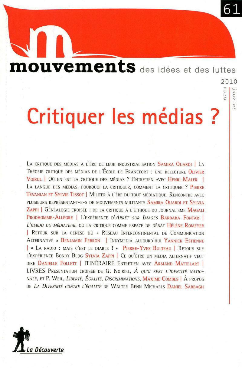 Critiquer les médias ?