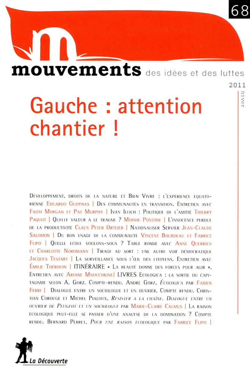 Gauche : attention chantier !